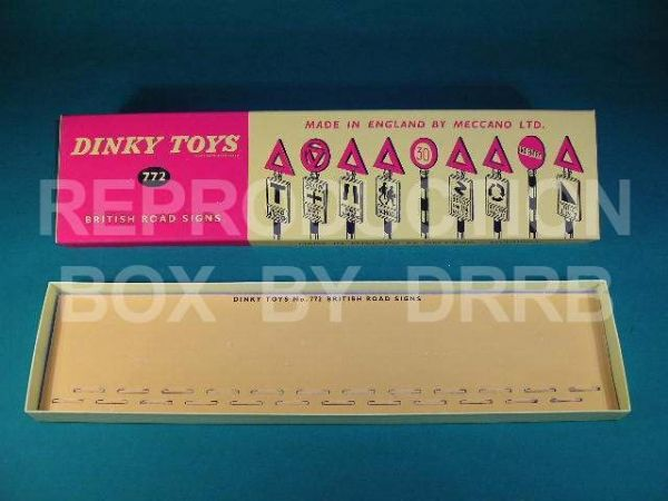 Dinky #772 British Road Signs (24) - Reproduction Box